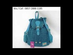 Crochet || Tutorial Merajut Tas Ransel + Inner || Backpack - Basket Weave Stitch (Part 1) - YouTube