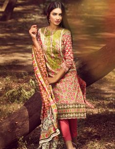 Khaadi Pink Pakistani Cotton Lawn Suit With Dupatta B15532A