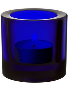 iittala Kivi Candle Holder - Cobalt Blue iittala Kivi, designed by Heikki Orvola, are simple and elegant Finnish glass votive candle holders. These standard colors have moody rich colors that create a beautiful, subdued ambience. Blue Candle Holders, Glass Votive Candle Holders, Cobalt Glass, Cobalt Blue, Love Blue, Blue And White, Black, Azul Real, Blue Candles