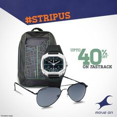 Always Be You. Think #Fashion.Think #Fastrack. Get Up-to 40% OFF on all Fastrack Accessories.  Shop Now: http://goo.gl/PpMLQz