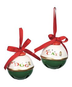 Take a look at this Pet Sentiment Jingle Bell Ornament Set on zulily today!