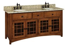 """Amish 72"""" Lucern Mission Bathroom Double Vanity Cabinet Hardwoods Collection Our Mission bathroom vanity cabinet will add a splash of style to your master bath or guest bathroom."""