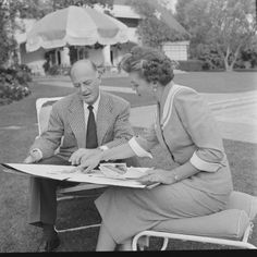 Esther Williams and Kenneth Cole of Cole of California Bathing Suits