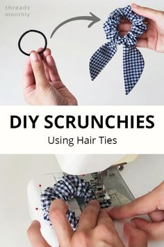 Diy Sewing Projects, Sewing Projects For Beginners, Sewing Tutorials, Sewing Crafts, Sewing Diy, Sewing Hacks, Diy Hair Scrunchies, Diy Hair Bows, Diy Bow