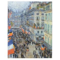 Shop July Fourteenth, Rue Daunou by Childe Hassam Postcard created by MasterpieceCafe. Wood Canvas, Canvas Wall Art, Oil On Canvas, Painting Prints, Art Prints, Oil Paintings, American Impressionism, Impressionist, Oil Painting Reproductions