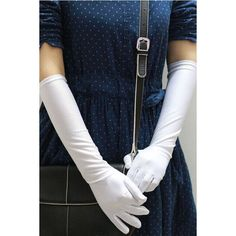 White Costume Golves ($7.99) ❤ liked on Polyvore featuring costumes, white, white costume and white halloween costumes