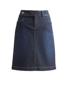 Joules null Womens Denim Skirt, Dark Denim.                     This denim skirt is hardwearing and classic but above all it's a great way to make sure your legs don't have to stay hidden throughout the later months of the year. Perfect paired with tights and a pair of wellies for stomping through the autumn and winter months in style.