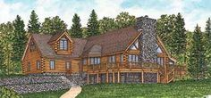 Log Home Floor Plans--- great ideas for a floor plan....