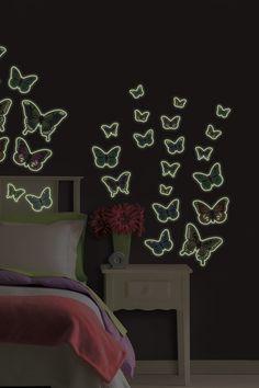 Butterflies Glow in the Dark Wall Stickers