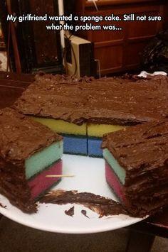 Sponge Cake Went Too Far