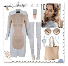 """""""Untitled"""" by tinkabella222 ❤ liked on Polyvore featuring Balmain, Jennifer Meyer Jewelry, Givenchy, Chantecaille, Smashbox, WearAll, Miu Miu, Relic and Old Navy"""