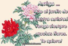El jardin de nuestra amistad este lleno de flores: El jardin de nuestra amistad este lleno de flores Bullet Journal, Amor, Happy Friends Day, Life, Sad, Pretty Quotes