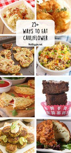 25+ ways eat cauliflower | NoBiggie.net