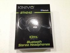 Kinivo BTH240 Bluetooth Stereo Headphone Unboxing.  These are some of the best stereo bluetooth headphones on the market!  The range of these headphones is incredible!  They have a built in mic, so work great for Google Hangouts on Air, pairing with a cell phone and/or listening to music!  The battery life is outstanding and they can be recharged via included USB cable!