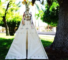 Ready to ship AZTEC canvas teepee tent /hand print kids play tent/ kids fort/ children play tipi by TucsonTeepee on Etsy https://www.etsy.com/listing/247714330/ready-to-ship-aztec-canvas-teepee-tent