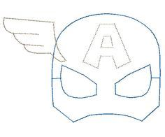 Captain America mask coloring page to use for buttercream