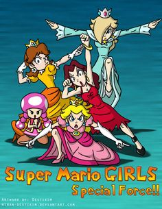 Super Mario Girls SPECIAL FORCE!! by Niban-Destikim.deviantart.com on @deviantART
