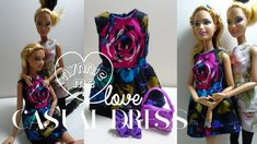 Barbie Casual Dress | DIY - How to make ; Casual Dress for Barbie Doll | nynnie me - YouTube