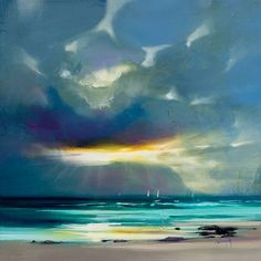 """""""West Coast Blues II"""" Canvas by Scott Naismith - - Blue Sun Tree Abstract Landscape Painting, Landscape Art, Landscape Paintings, Abstract Art, Canvas Frame, Canvas Art, Canvas Prints, Scott Naismith, Painting Prints"""