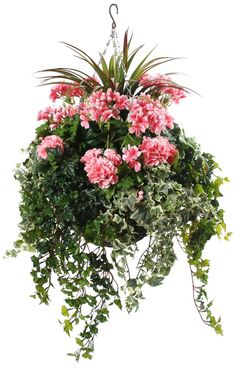 Using Hanging Flower Basket Ideas is a very good option if you want to make your home more appealing. Hanging Flower Basket Ideas - Using Hanging Flower Basket Ideas is a very good option if you want to make your home more appealing. Artificial Hanging Baskets, Hanging Flower Baskets, Fake Flowers, Artificial Flowers, Hanging Plants Outdoor, Diy Hanging, Plants Indoor, Hanging Planters, Potted Plants