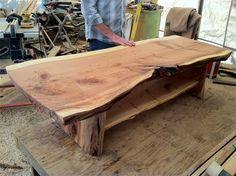 Split log bar top i like it rough pinterest logs for Table 16 personnes