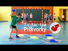 Tic-tac-toe, piškvorky na hodine telesnej výchovy Team Building Events, Tic Tac Toe, Diy And Crafts, Basketball Court, Youtube, Pep Rally, Motor Skills, Kid Games, Handball