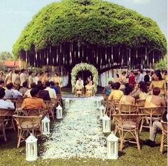 Thai weddings are so gorgeous and this aisle covered with flowers is breathe taking.