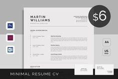 An attractive Resume/CV Template with super clean and modern look. It includes single page resume and cover letter with business card. Easy to use and Resume Design Template, Cv Template, Resume Templates, Design Resume, Design Templates, Templates Free, Job Resume, Best Resume, Cover Letter Template