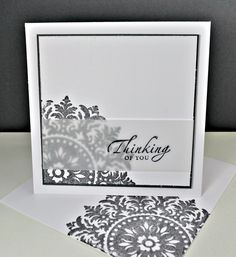 Hand-Made by Anne-Marie: Sympathy Cards (make with Marina Mist & silver embossed text) Karten Diy, Get Well Cards, Card Tags, Cute Cards, Creative Cards, Greeting Cards Handmade, Scrapbook Cards, Homemade Cards, Stampin Up Cards