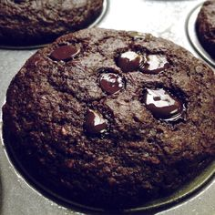 WORLDS HEALTHIEST CHOCO CHOCO MUFFINS! 12 g of protein and only 9 net carbs per muffin. Sugar free!