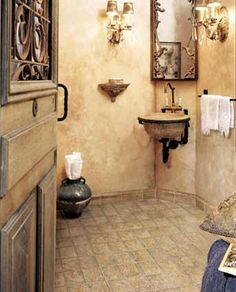 How to create a Tuscan Wall with Paint...Love the wall color