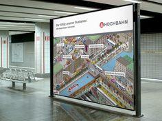 Pixel Kampagne für Hamburger Hochbahn von Orange Cube Hamburg