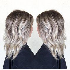 ❄ ️winter blonde * by habit stylist hair color п Messy Curly Hair, Curly Hair Cuts, Curly Hair Styles, Messy Pixie, Thin Hair, Medium Curly Haircuts, Edgy Haircuts, Hairstyles Haircuts, Fall Blonde Hair