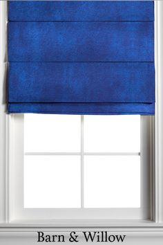 Velvet Pleated Roman Shades in Sapphire Custom Roman Shades, Garage Storage Solutions, Blinds Design, Custom Windows, Blinds For Windows, Window Coverings, Barn, Velvet, Curtains