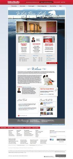 Custom Web Design - Edina Realty #CustomWebDesign Custom Web Design, Custom Website Design, Website Designs, Logo Design, Graphic Design, Webby Awards, White Bear Lake, Edina Realty, Portfolio Website Design