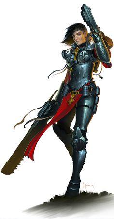 Sister of Battle - Hardy Fowler's artwork for Hammer & Anvil