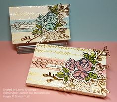 Stampin' Up! Lots to Love Box Framelits, with Bundle of Love DSP and Petal Palette stamps and dies.
