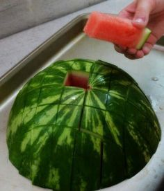 Such an easy way to serve watermelon for a group www.PureRomance.com/HeatherMcLaughlin www.Facebook.com/PureRomanceSavannah