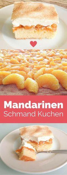 Mandarinen Schmand Kuchen - das Rezept meiner besten Freundin und Backgöttin Almut. Schmeckt einfach BOMBE - wir essen es schon seit unserer Kindheit, als es noch ihre Mutter für uns gebacken hat.