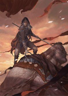 ArtStation - warrior with a big monkey, Fenghua Zhong