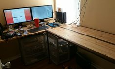 die besten 25 diy u shaped desk ideen auf pinterest diy l shaped desk individualisierter. Black Bedroom Furniture Sets. Home Design Ideas