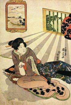 Women - Utagawa Kuniyoshi Style: Ukiyo-e Genre: portrait Japanese Illustration, Illustration Art, Oriental, Renoir, Samurai, Fine Art Prints, Canvas Prints, Kuniyoshi, Art Japonais