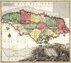 Vintage map of jamaica 1672 poster pinterest vintage maps gumiabroncs Choice Image