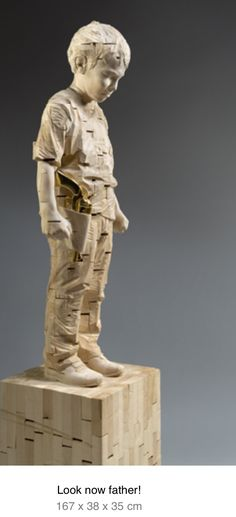 GEHARD DEMETZ Your Sweat Is Salty Art Pinterest Wood - Taiwanese sculpture uses wood to create sculptures of people effected by pixelated glitches