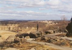 Gettysburg Battlefield.   The boys loved to climb on the rocks at the Battlefields. We went often and would spend hours.
