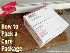 How to prepare a care package to send in the mail, including tips for mailing canning jars.