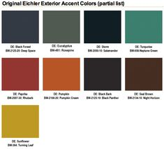 mid century modern exterior paint color schemes mid century color palette the palette appears sophisticated building exterior design software Color Schemes Design, Modern Color Schemes, Modern Color Palette, Design Color, Mid Century Modern Colors, Mid Century Modern Design, Modern Landscape Design, Modern Landscaping, Exterior Paint Colors