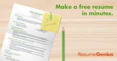 Free resume builder, the fastest resume maker with effective, built-in resume templates. Personal reviews by experts. Make your perfect resume in minutes!