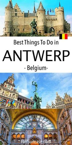 Best things to do and places to see in Antwerp Belgium. Includes an easy itinerary and a walking map with insider tips by a local. Don't miss Antwerpen when visiting Belgium! Places To Travel, Places To See, Travel Destinations, Stuff To Do, Things To Do, Visit Belgium, Famous Waterfalls, Largest Waterfall, Antwerp Belgium
