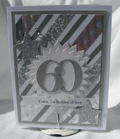 Diamond Anniversary Card 60 Years a by PlaysNicelyWithPaper